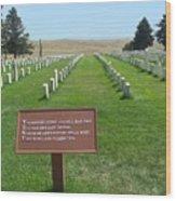 Custer National Cemetery Wood Print