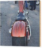 Custom Bike 2 Wood Print