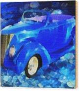 Custom Car  Wood Print