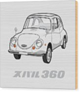 Custom Color Subaru 360 Wood Print