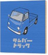 Custom Color Subaru Sambar Truck Wood Print