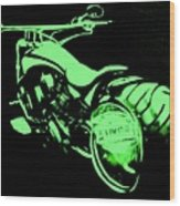 Custom Harley Davidson Teal Wood Print