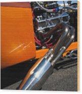 Custom Hot Rod Engine 2 Wood Print