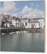 Custom House Quay And Falmouth Parish Church Wood Print