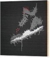 Custom Painted Jordan Cement 5 Tee Wood Print
