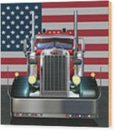 Custom Peterbilt 2 Wood Print by Stuart Swartz
