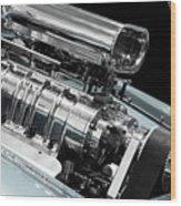 Custom Racing Car Engine Wood Print