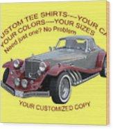 Custom Tee Shirts Wood Print