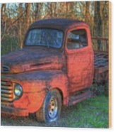 Customized Rust 1949 Ford Pickup Truck Wood Print