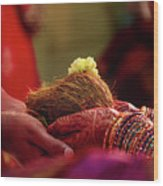 Customs Of The Kannada Wedding Wood Print