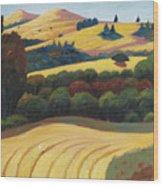 Cut Grass Wood Print