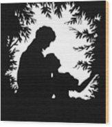 Cut-paper Silhouette Wood Print