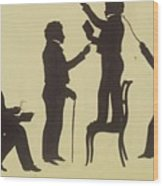 Cut Silhouette Of Four Full Figures 1830 Wood Print