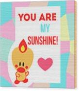 Cute Art - Sweet Angel Bird Pastel Colorblock You Are My Sunshine Wall Art Print Wood Print