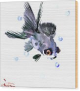 Cute Fish Wood Print