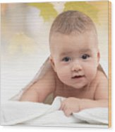 Cute Four Month Old Baby Boy Wood Print
