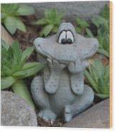 Cute Garden Wood Print
