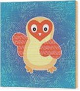 Cute Little Baby Chick Wood Print
