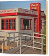 Cute Little Route 66 Diner Wood Print