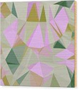 Cute Polygonal Wood Print