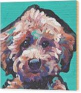 Cutey Poo Wood Print
