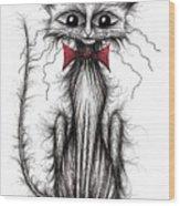 Cuthbert The Cat Wood Print