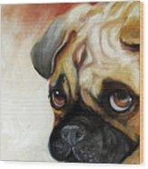 Cutie Pie Pug Wood Print