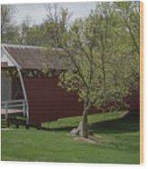 Cutler - Donahoe Covered Bridge - Madison County - Iowa Wood Print