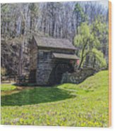 Cuttalossa Mill In The Springtime Wood Print