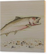 Cutthroat Trout Wood Print by Jeff Harrell