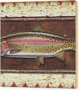 Cutthroat Trout Lodge Wood Print
