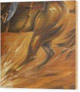 Cutting Horse Closeup 2 Wood Print