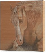 Cutting Horse Wood Print