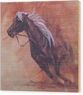 Cutting Horse I Wood Print