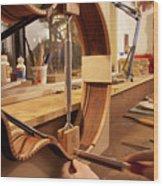 Cutting The Kerfing Wood Print