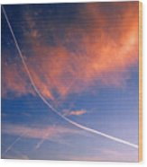 Cutting The Sky 3 Wood Print