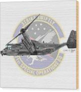 Cv-22b Osprey 71sos Wood Print