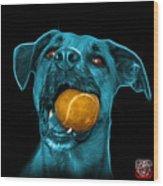 Cyan Boxer Mix Dog Art - 8173 - Bb Wood Print