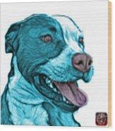 Cyan Bull Fractal Pop Art - 7773 - F - Wb Wood Print