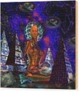Cybergal Temple Wood Print