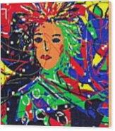 Cyberspace Goddess Wood Print