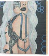 Cyborg Cindy Wood Print