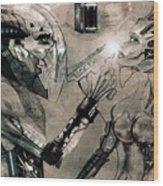 Cyborg Wood Print