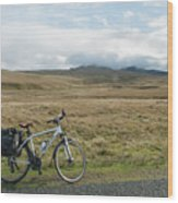 Cycle Across The Beacons Cycle Route. Wood Print