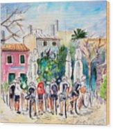 Cycling In Majorca 05 Wood Print