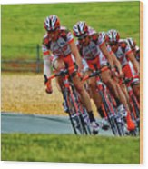 Cycling Practice Wood Print