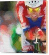 Cyclist Three Wood Print
