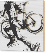 Cyclocross Poster1 Wood Print