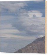 Cyclone Cloud Crowd Wood Print
