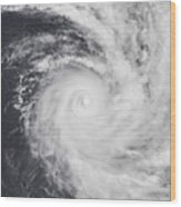 Cyclone Zoe In The South Pacific Ocean Wood Print